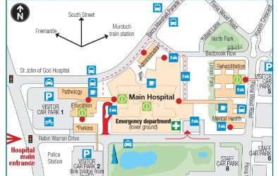 Site map, Fiona Stanley Hospital