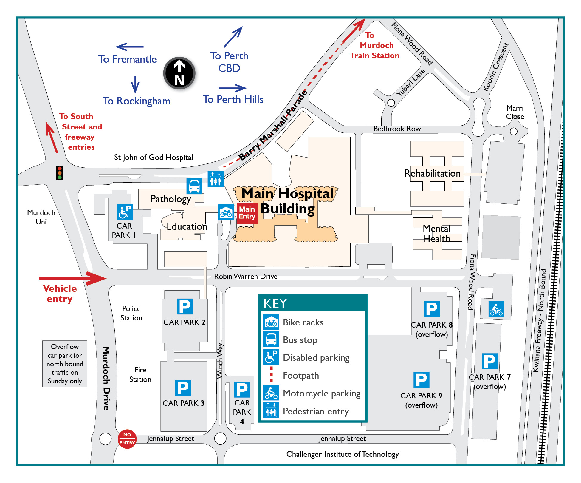 Fremantle Hospital Map Fremantle Hospital Map | Color 2018